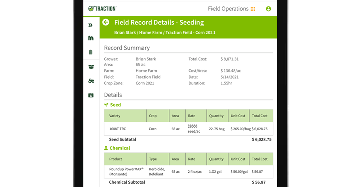 Traction Field Operations can analyze your field and crop margins.